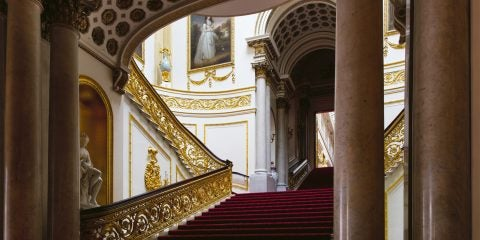 Ashley Hicks book Buckingham Palace: The Interiors Rizzoli Grand Staircase London England