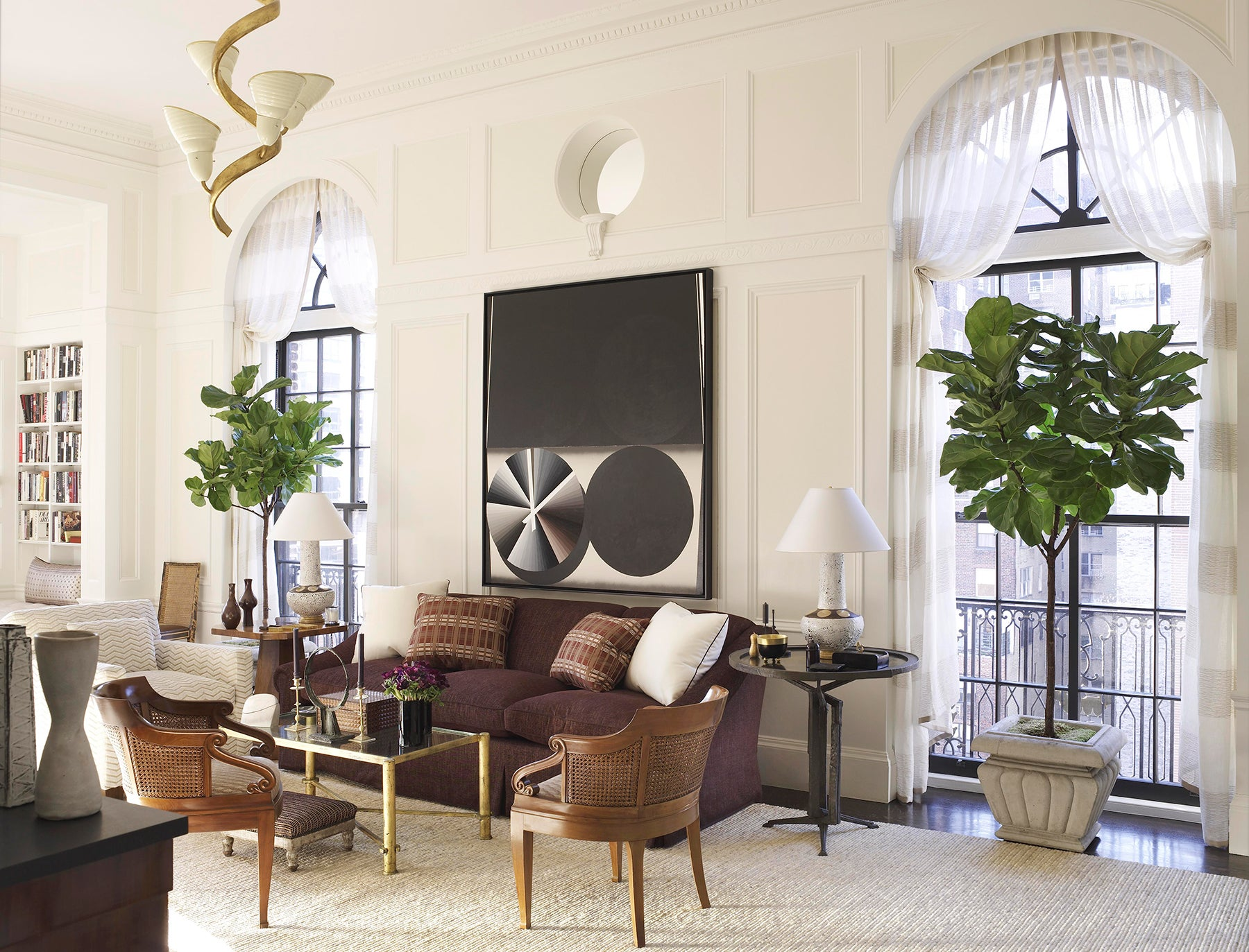 living room by David Kleinberg Design Associates