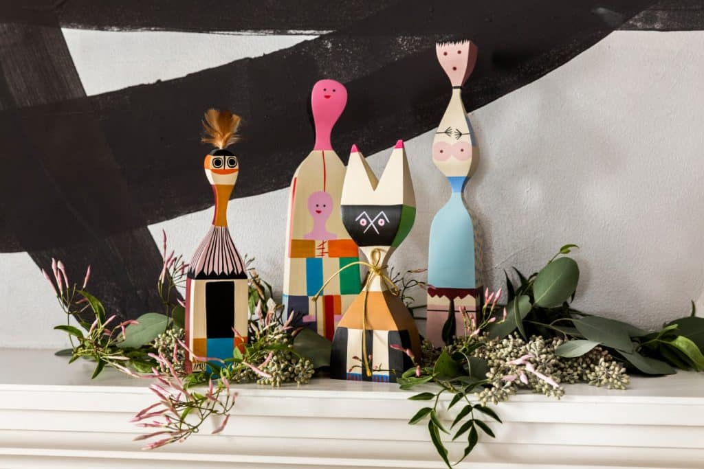 Alexander Girard for Vitra dolls in Sara Story's dining room