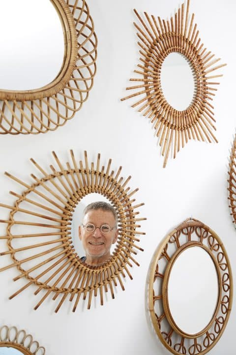 Daniel Rozensztroch portrait book A Life of Things Nice home rattan mirrors