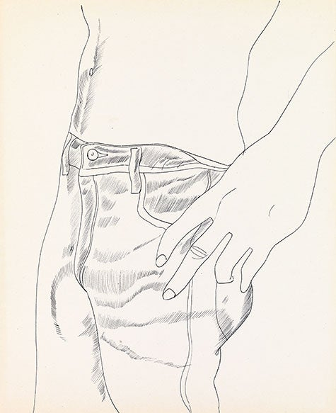 Untitled (Hand in Pocket), ca. 1956, by Andy Warhol