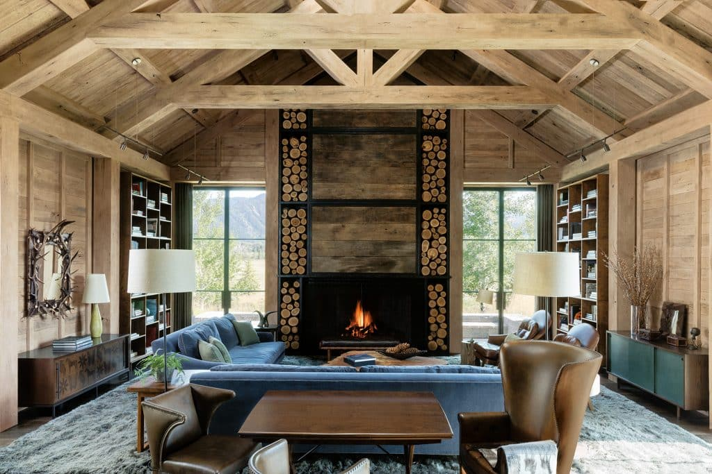 Los Angeles designer Kerry Joyce book The Intangible Aspen house living room