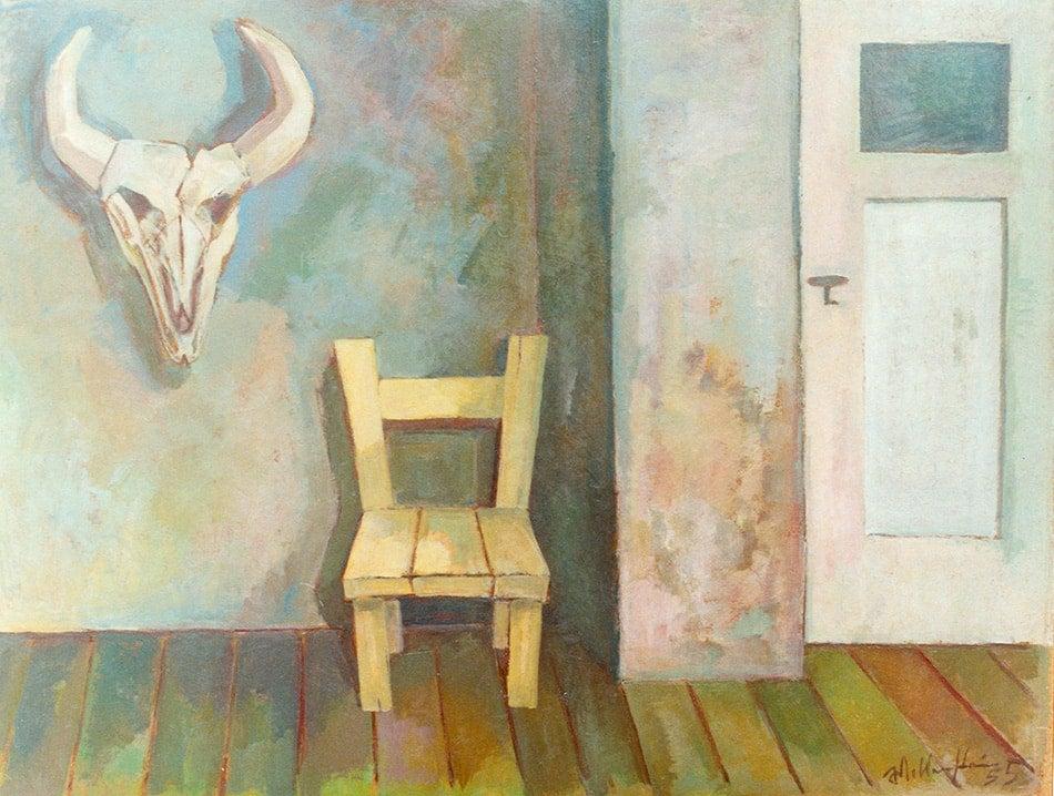 Das graue Zimmer (Gray Room), 1955, by Walter Wellenstein