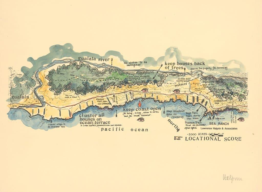 The Sea Ranch Sonoma California SFMOMA exhibition site map