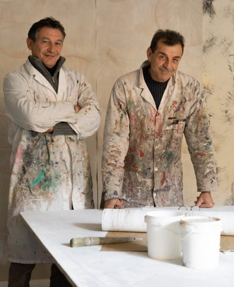 Fabscarte cofounders Emilio Brazzolotto (left) and Luigi Scarabelli