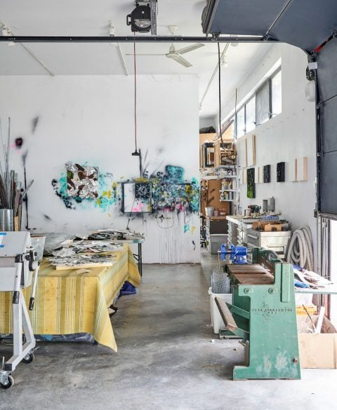 William Monaghan's studio
