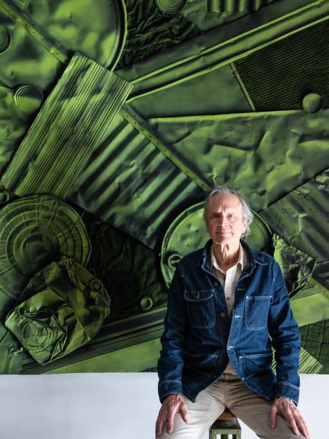 William Monaghan in his studio