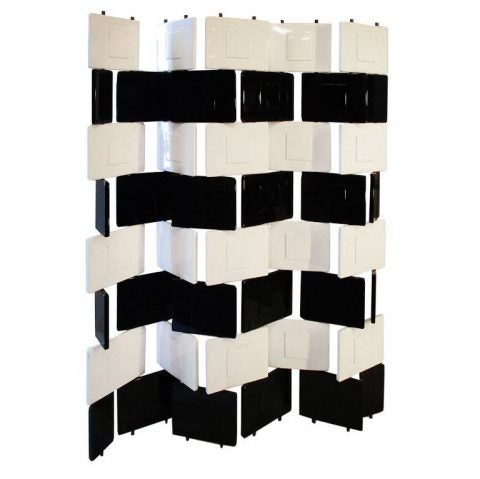 Eileen Gray Brick black-and-white-lacquered screen, 1980