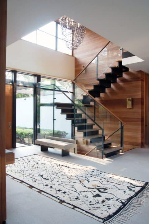 FormArch New York architecture and design firm Amagansett House Long Island Hamptons stairwell foyer