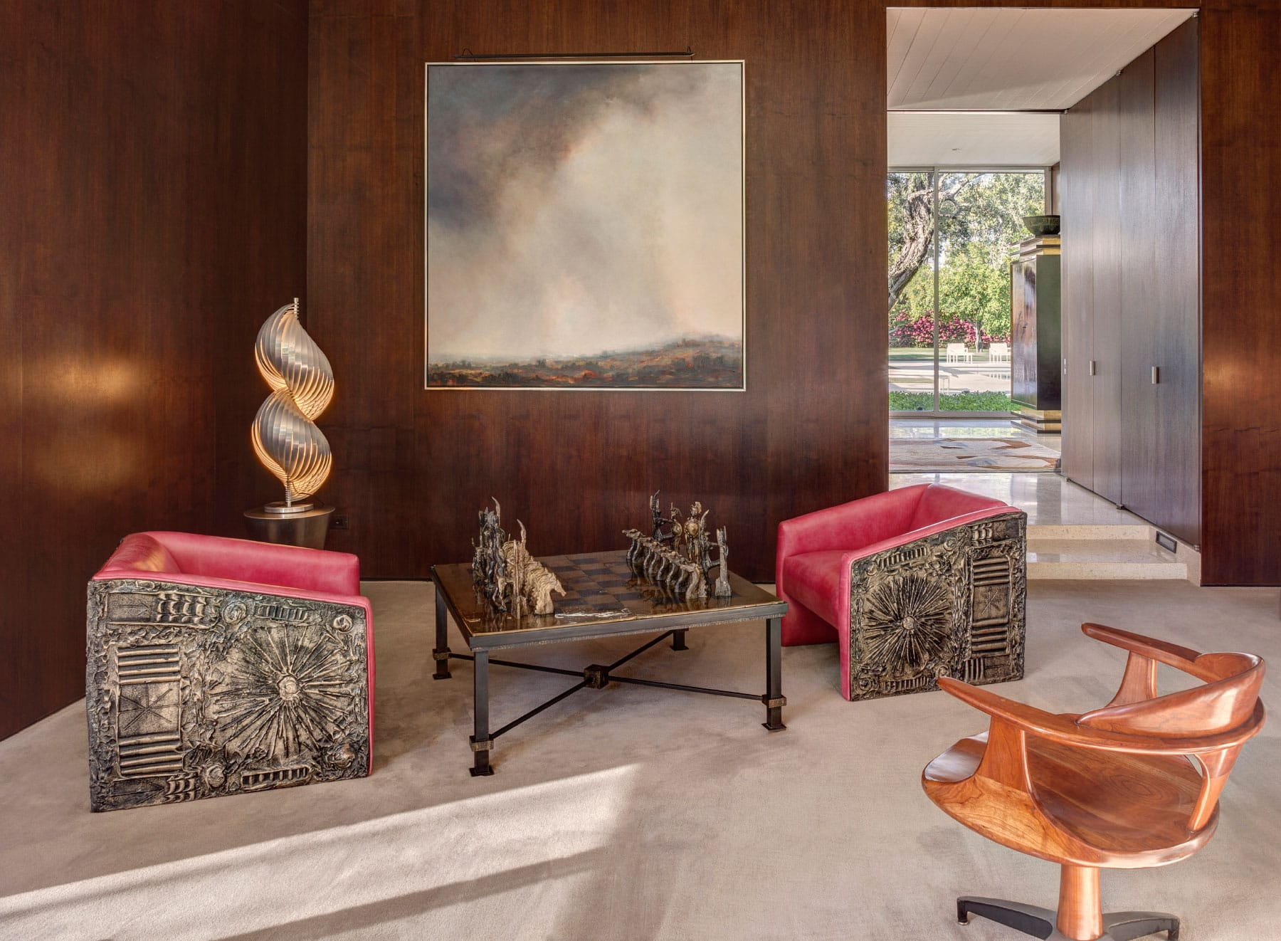 FormArch New York architecture and design firm Palm Springs house living room