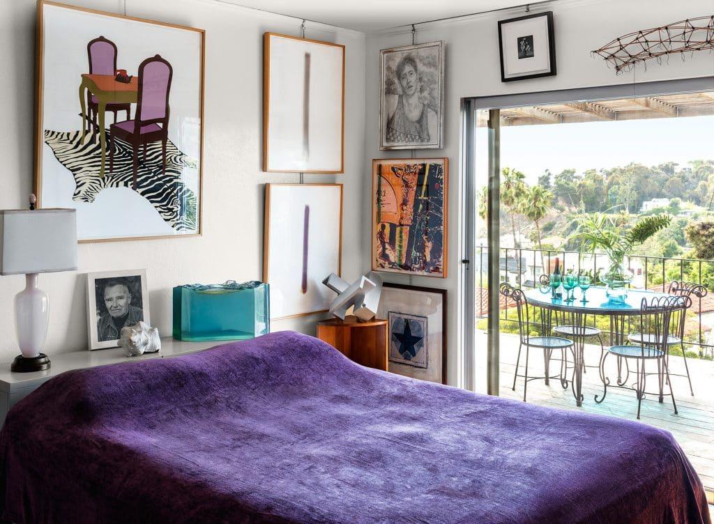 Don Bachardy's bedroom