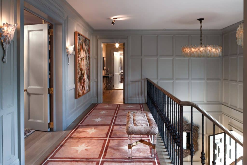 FormArch New York architecture and design firm East Hampton House Long Island Hamptons upstairs stair hall stairway staircase