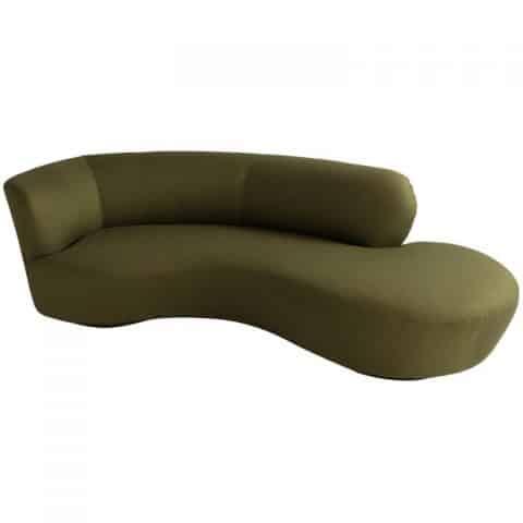 Vladimir Kagan Serpentine sofa, ca. 1970. Offered by Obsolete