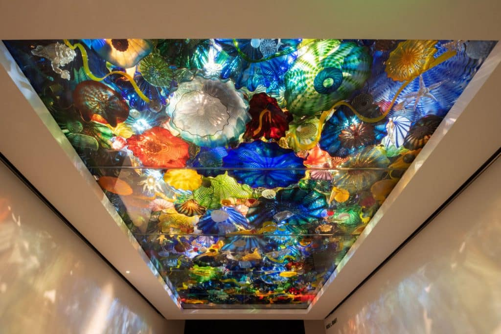 Dale Chihuly's Persian Sea Life Ceiling, 2003, at the Norton Museum of Art