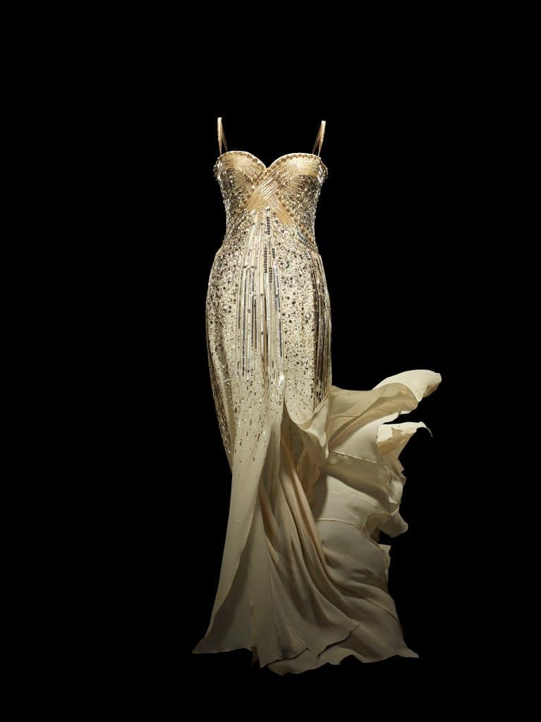 Christian Dior by John Galliano J'adore silk dress with sequins and Swarovski crystals