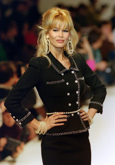 Claudia Schiffer in Karl Lagerfeld for Chanel
