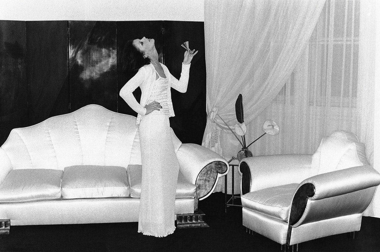 At Karl Lagerfeld's, Paris, 1974, by Helmut Newton