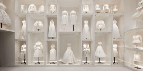 """The Ateliers section in the exhibition """"Christian Dior: Designer of Dreams"""" at London's Victoria and Albert Museum"""