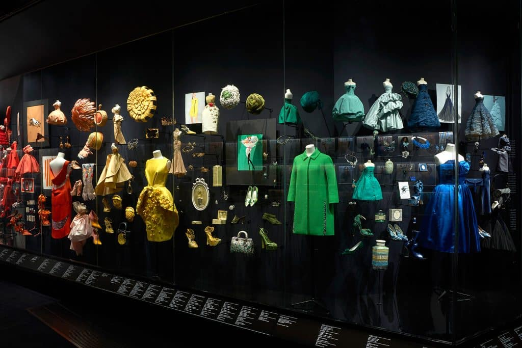 """The Diorama section in the exhibition """"Christian Dior: Designer of Dreams"""" at London's Victoria and Albert Museum"""