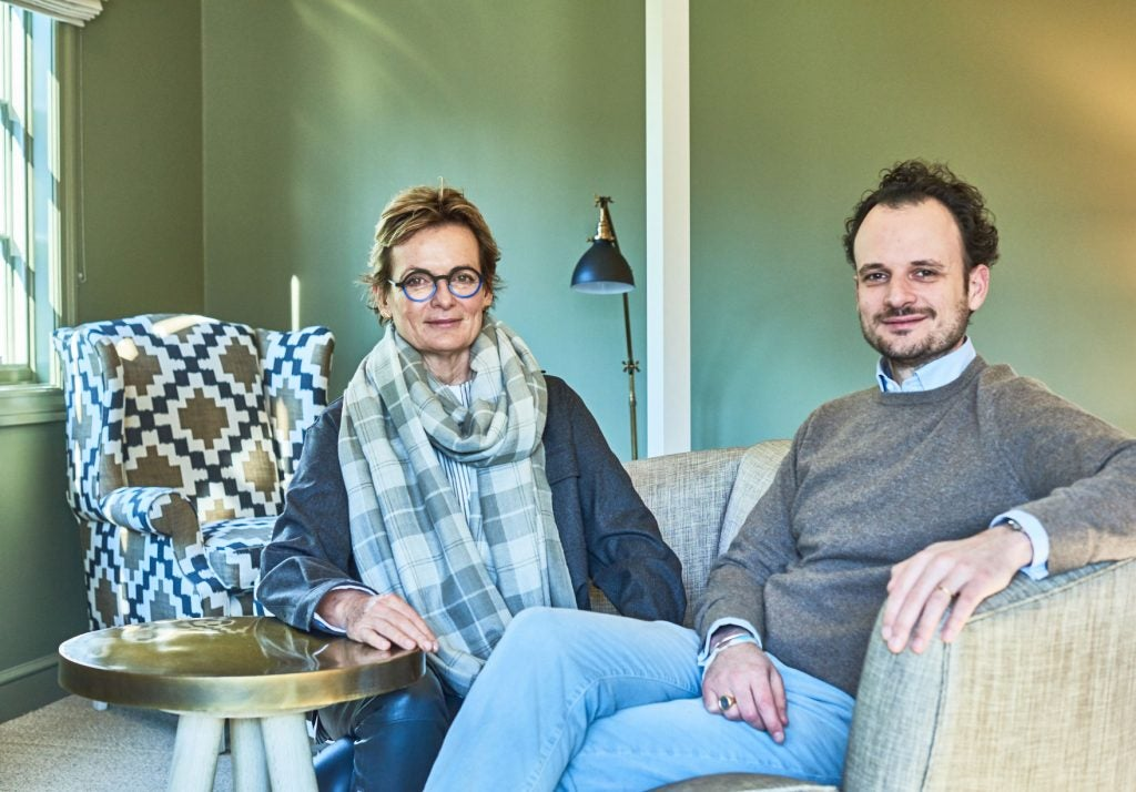 Alexandra Champalimaud and her son Anthony, owner of Troutbeck