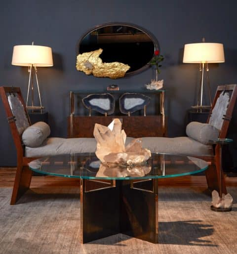 crystals in the Christie's exhibition at 1stdibs' gallery