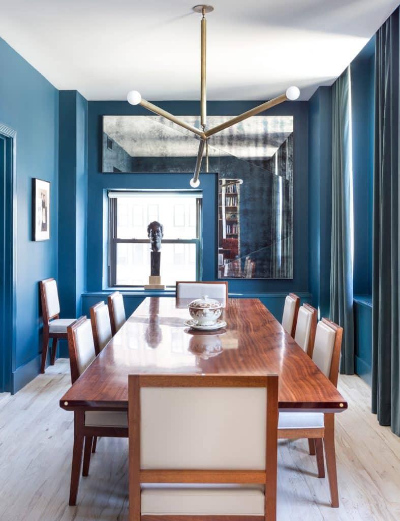 Interior designer Drew McGukin Chelsea New York dining room
