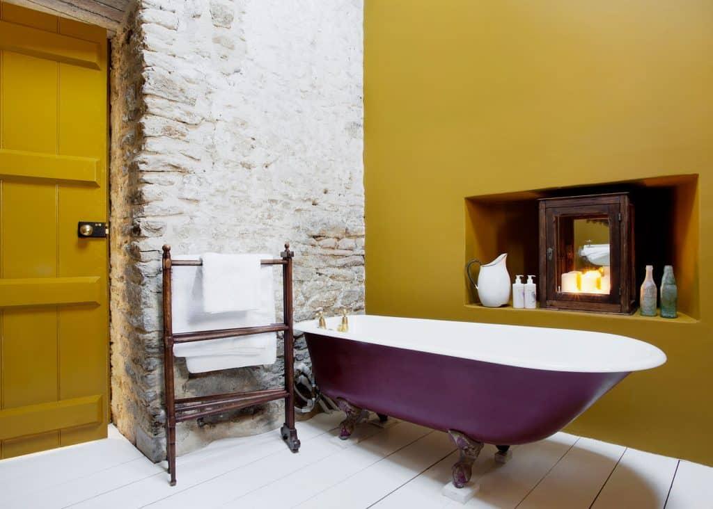 Luis Laplace Durslade Farmhouse hotel Somerset England bathroom