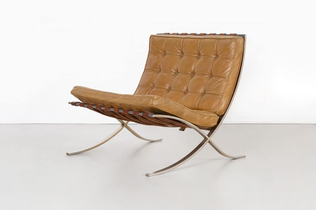 Mies van der Rohe Matthew Rachman Gallery Chicago Blues and Beyond blueprints Barcelona chair prototype cushions Lake Shore Drive towers