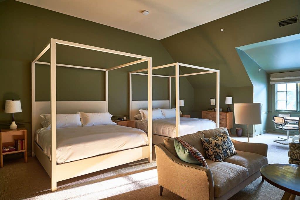 A guest room at Troutbeck