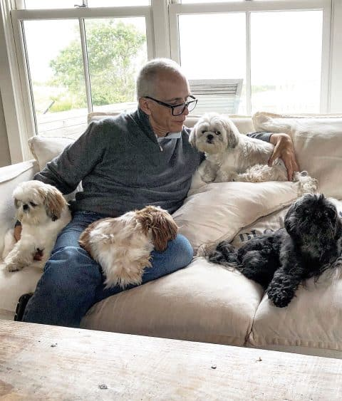 Robert Couturier and dogs