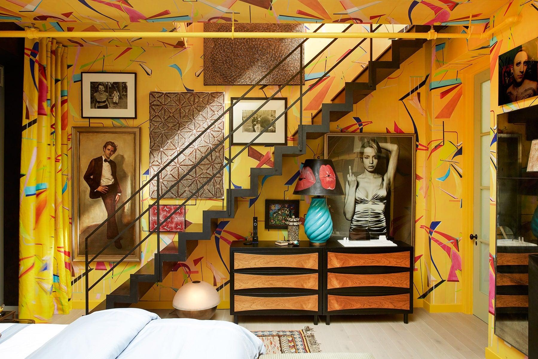 Interior designer Drew McGukin New York loft bedroom
