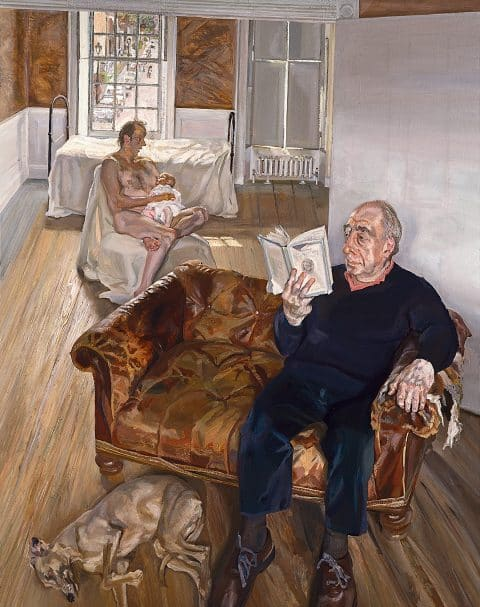Lucian Freud: Monumental Acquavella Galleries Large Interior, Notting Hilll