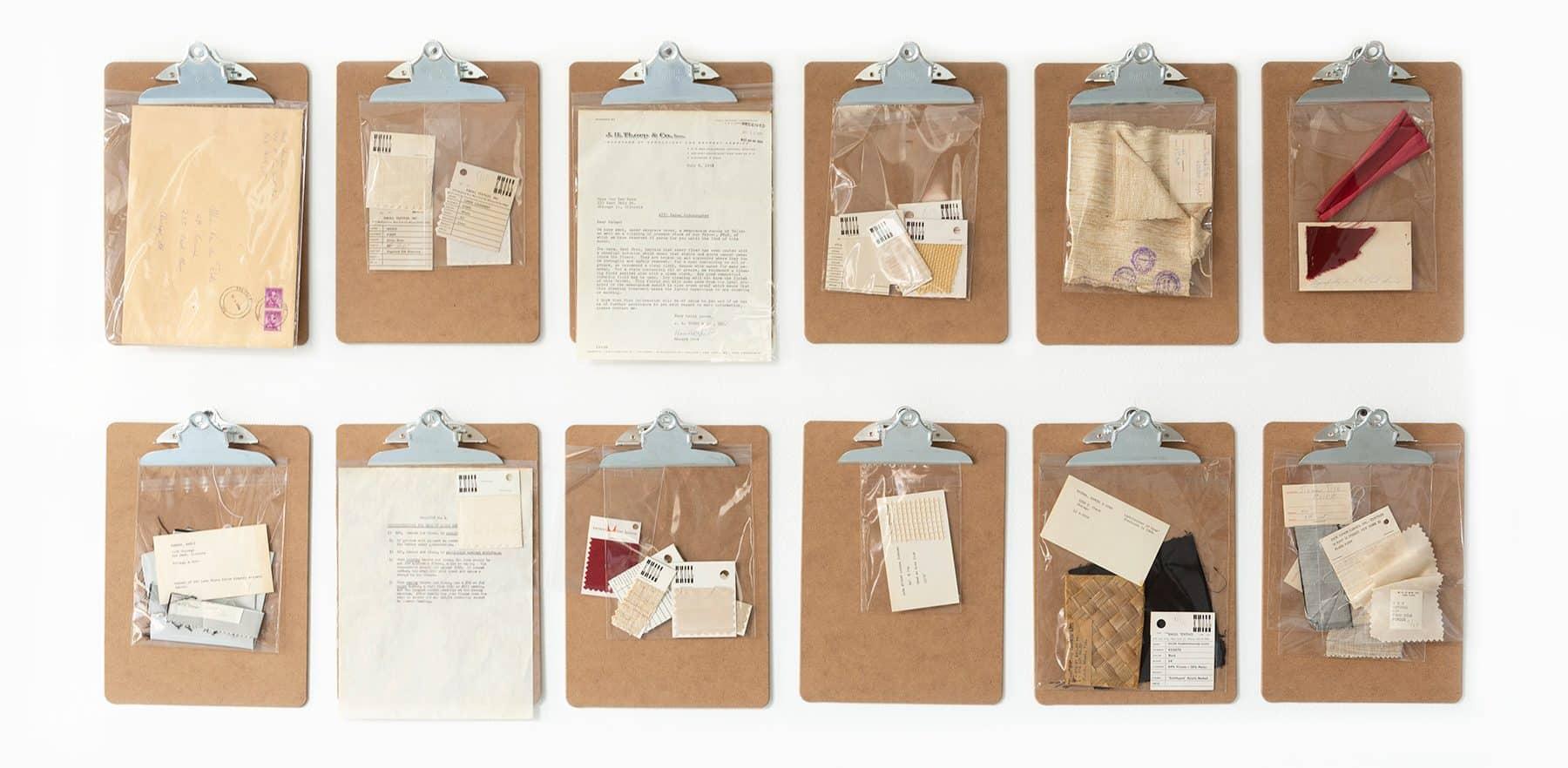 Mies van der Rohe Matthew Rachman Gallery Chicago Blues and Beyond blueprints clipboards studio correspondence and ephemera