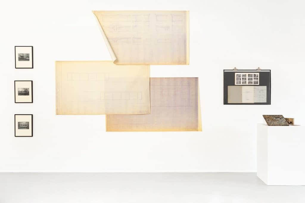 Mies van der Rohe Matthew Rachman Gallery Chicago Blues and Beyond blueprints Farnsworth House plans