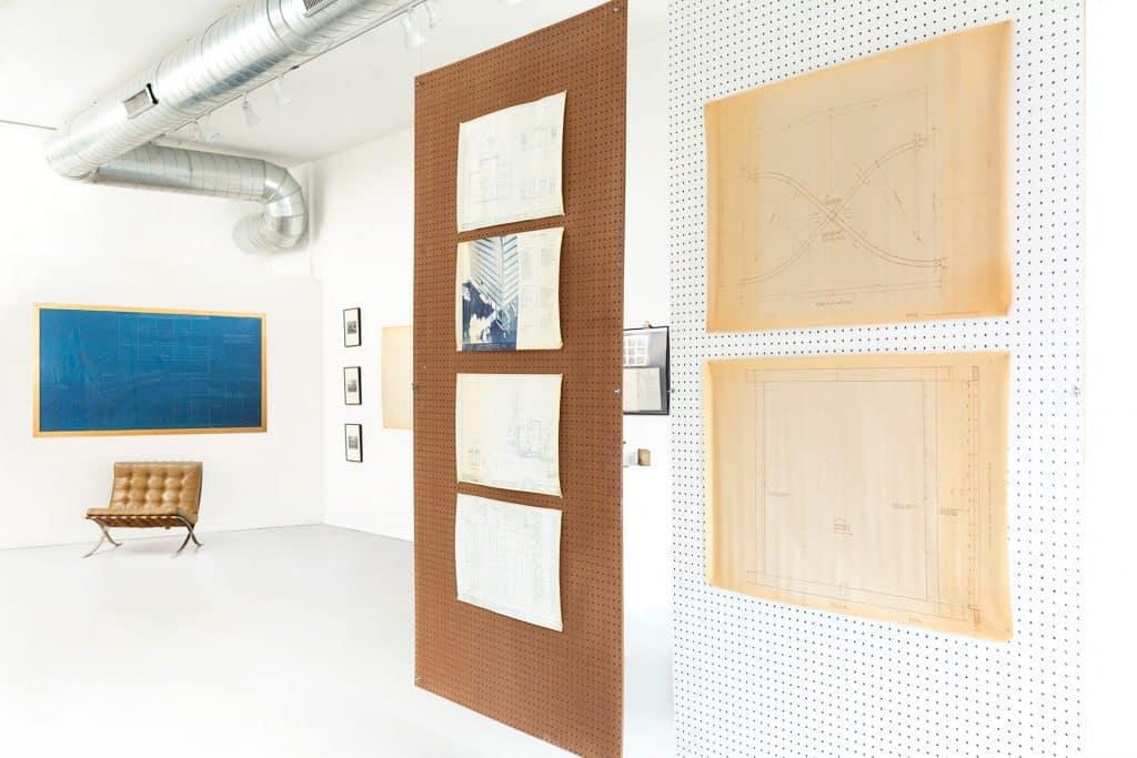 Mies van der Rohe Matthew Rachman Gallery Chicago Blues and Beyond blueprints Barcelona chair