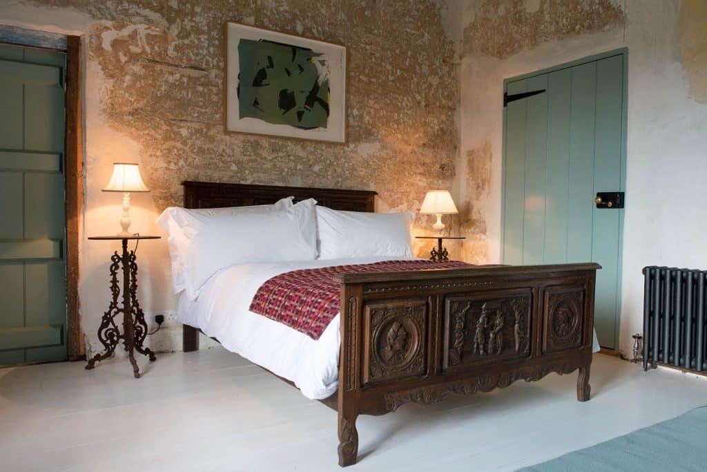 Luis Laplace Durslade Farmhouse hotel bedroom guestroom Somerset England
