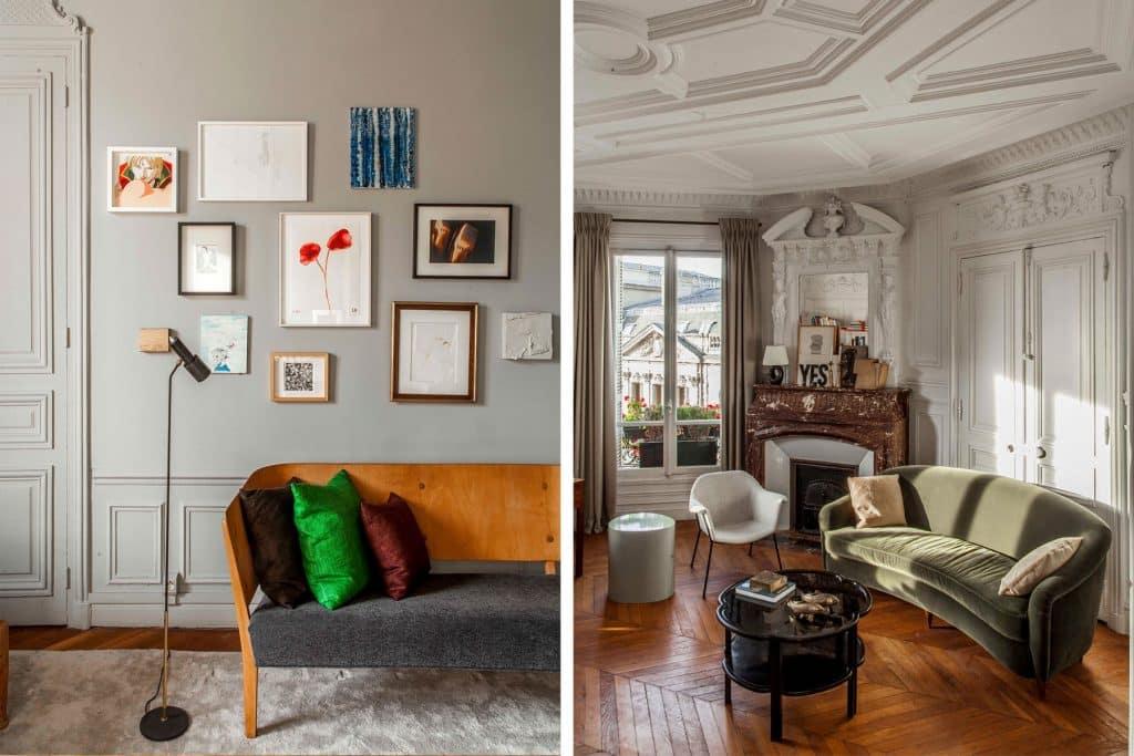 Luis Laplace Paris apartment study and living room