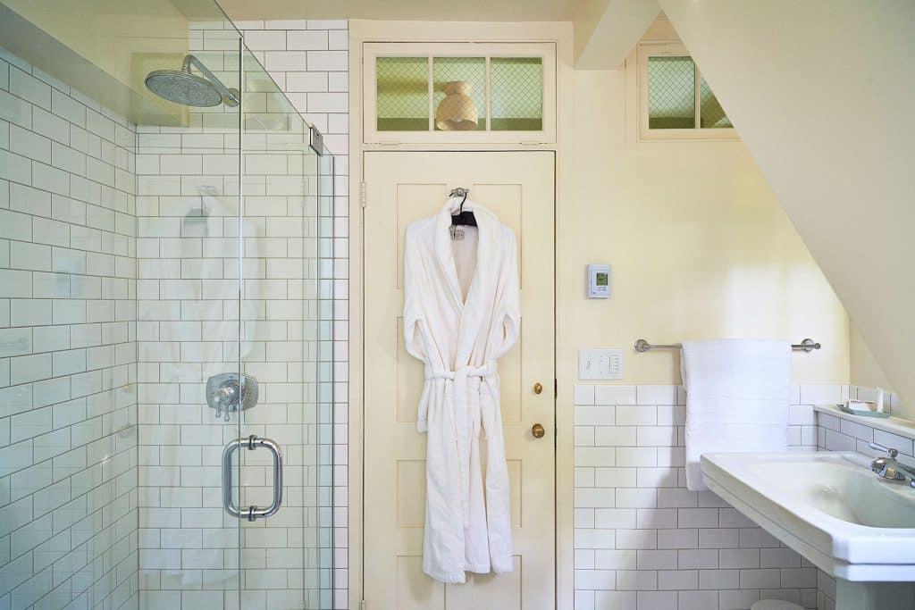 A bathroom at Troutbeck