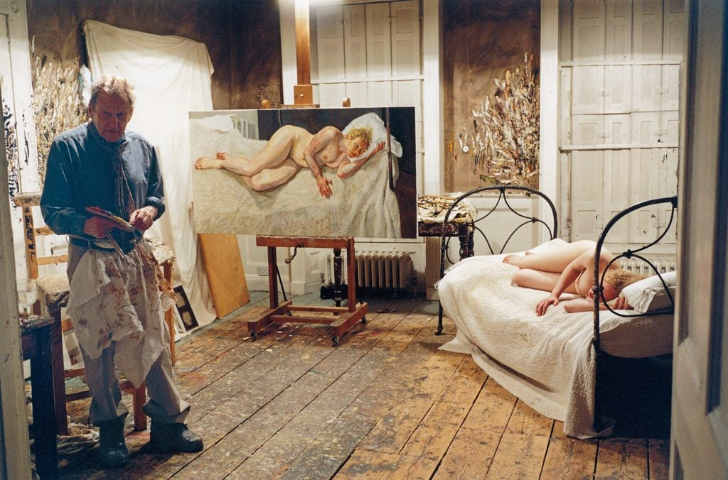 Lucian Freud: Monumental Acquavella Galleries Ria, Naked Portrait Ria Kirby