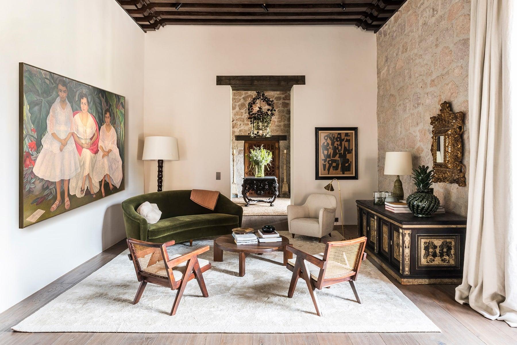 Luis Laplace Morelia Mexico Casa Michelena living room