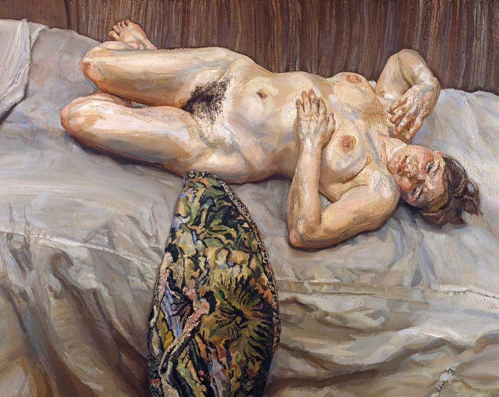 Lucian Freud: Monumental Acquavella Galleries Portrait on Gray Cover
