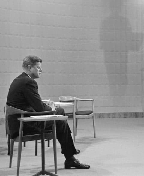 John F. Kennedy in Hans J. Wegner's Round chair