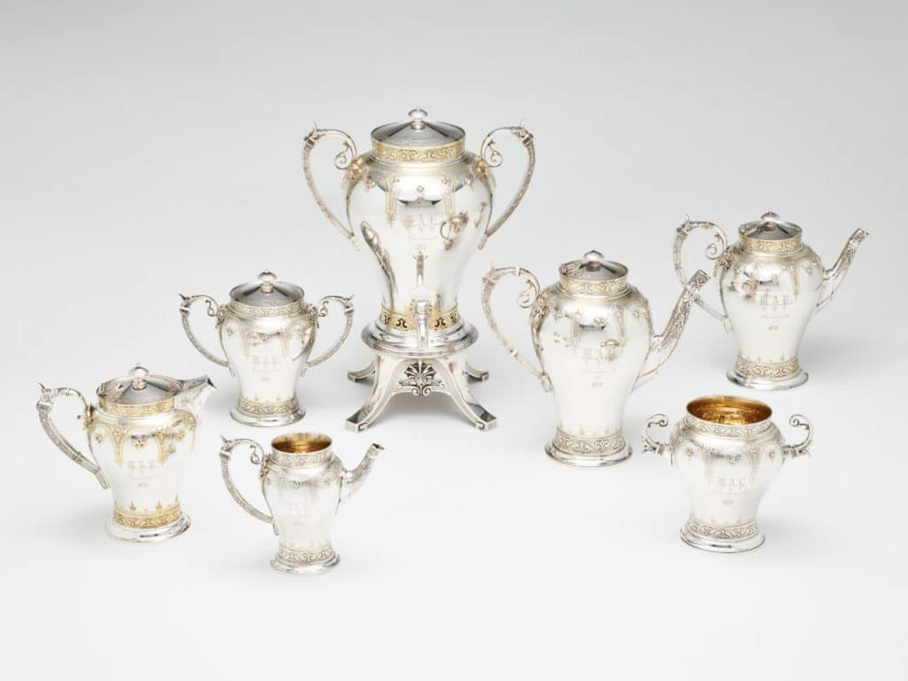 Gorham Silver: Designing Brilliance 1850–1970 Gorham Manufacturing Company Rhode Island School of Design Museum Providence coffee and tea service