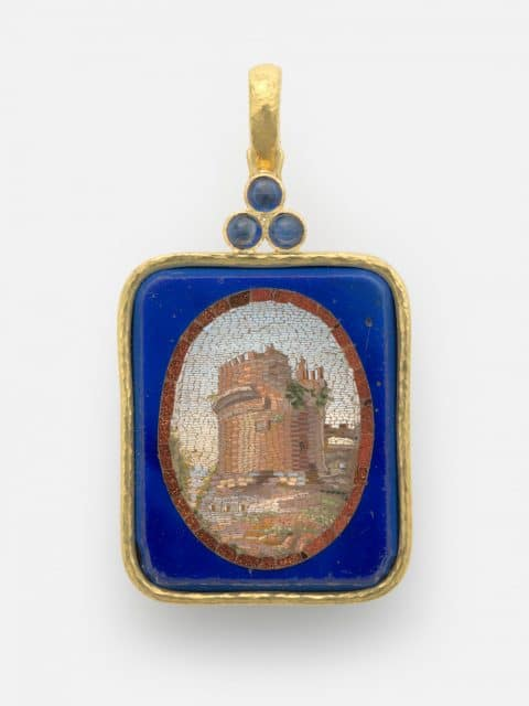 Pendant depicting Tomb of Cecilia Metella