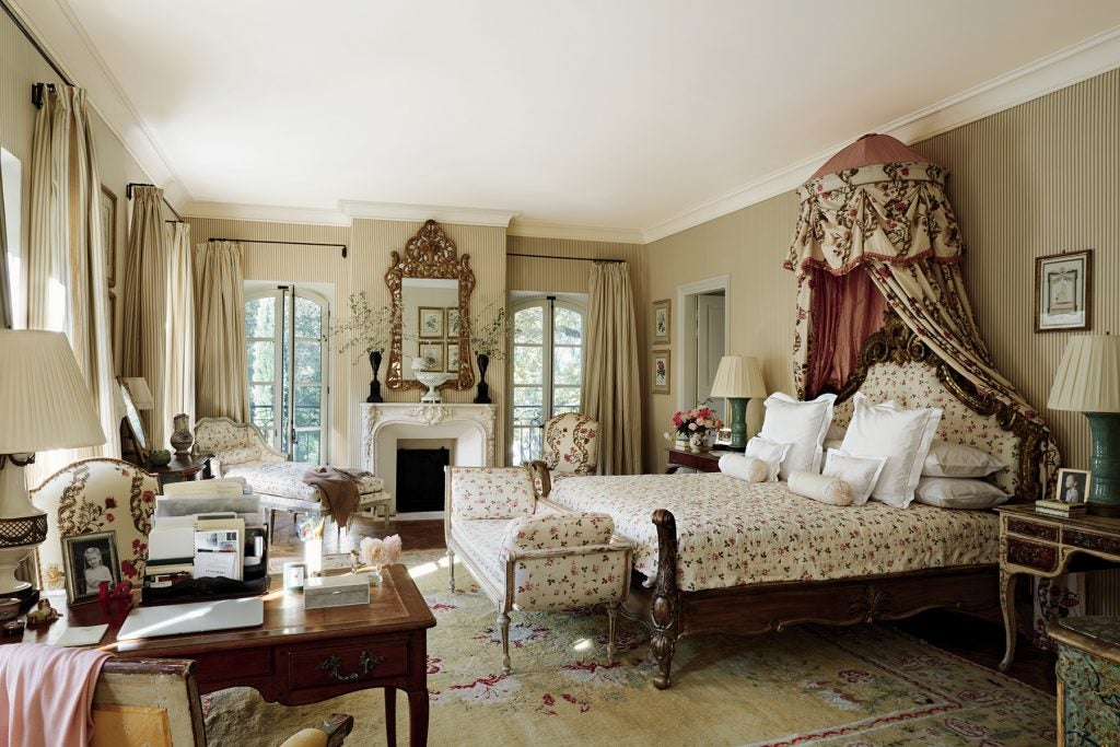 Bunny Williams Love Affairs with Houses Abrams Provence France farmhouse master bedroom