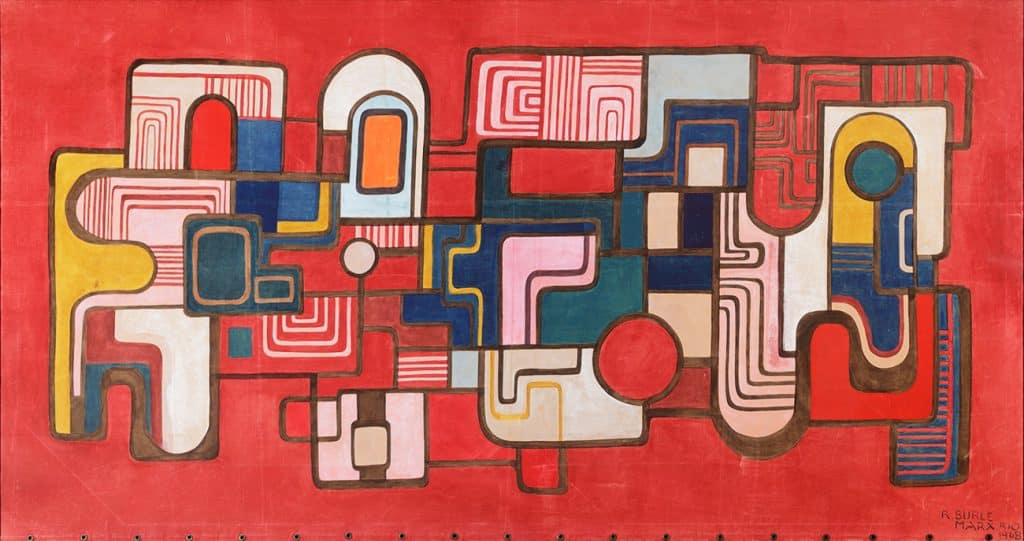 1960's Abstract Work by Burle Marx
