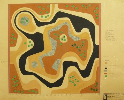 Burle Marx's 1983 Plan for a Rooftop Garden