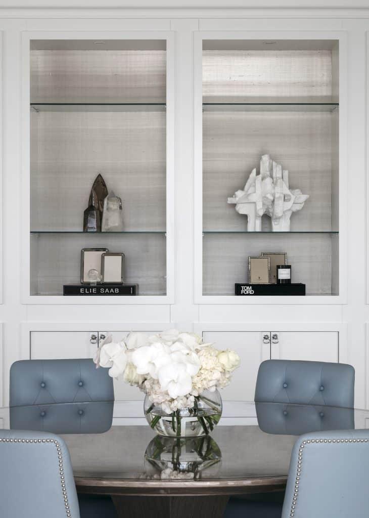 Australian architect interior designer Blainey North Sydney Harbour house dining room