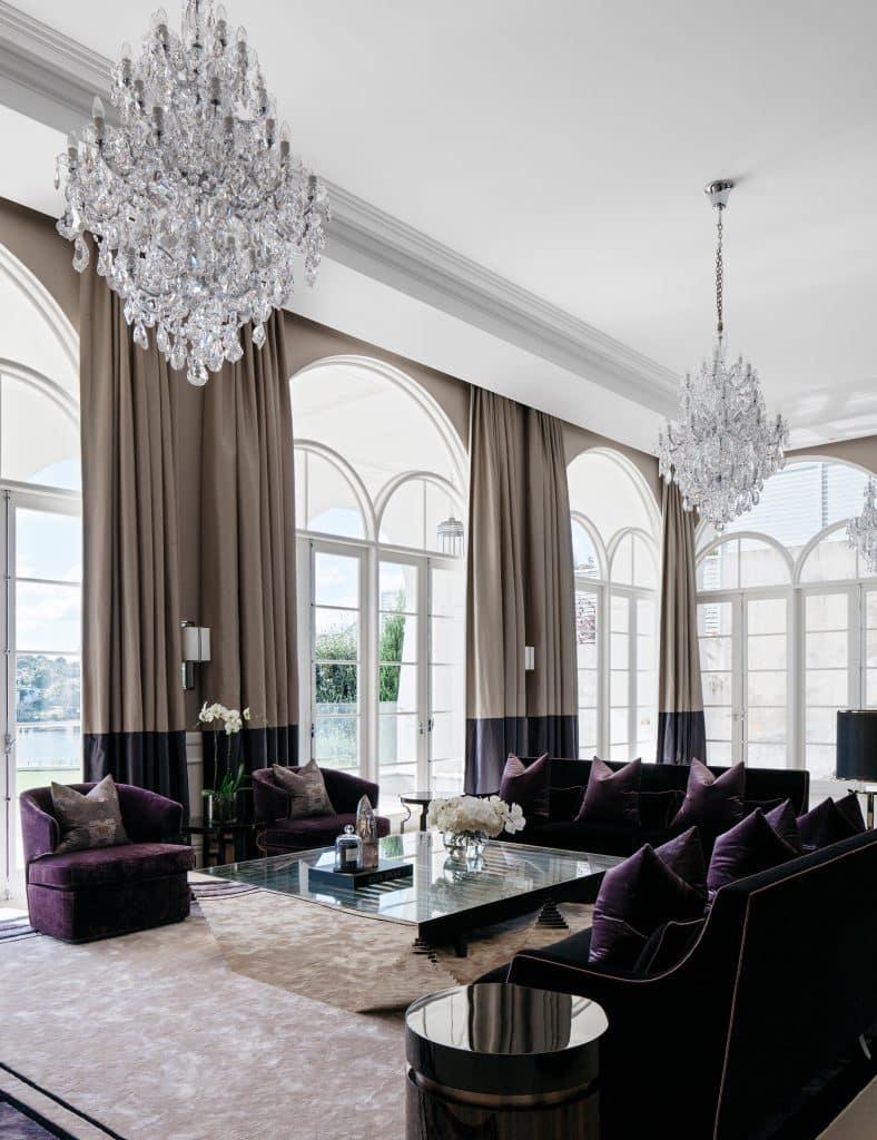 Australian architect interior designer Blainey North Sydney Harbour house bar seating