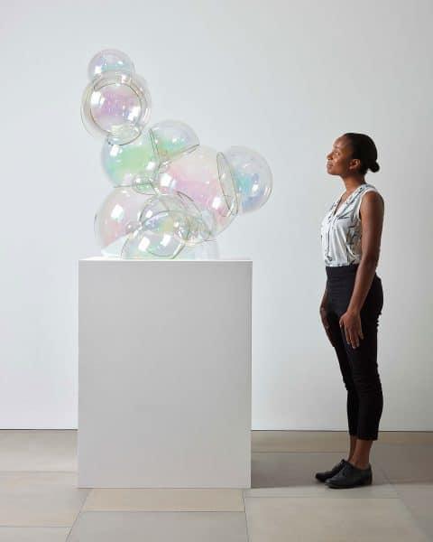 Corning Museum of Glass New Glass Now Jeroen and Joep Verhoeven the Verhoeven Twins Bubble cabinet